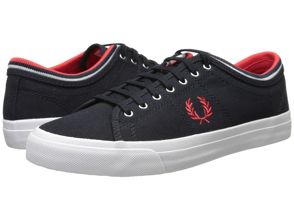 Fred Perry - Kendrick Tipped Cuff Canvas (Navy/Red) Men's Lace up casual Shoes