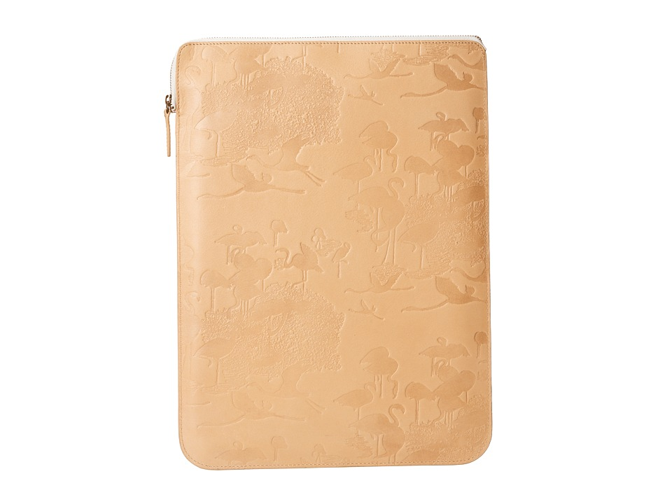 Scotch & Soda - Leather Flamingo Small Laptop Case (Camel) Computer Bags