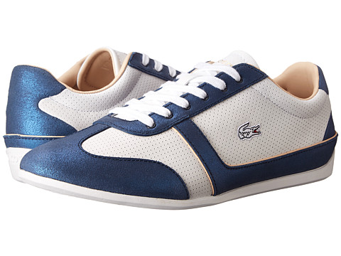 Lacoste - Missano Sport Met (White/Dark Blue) Women's Shoes