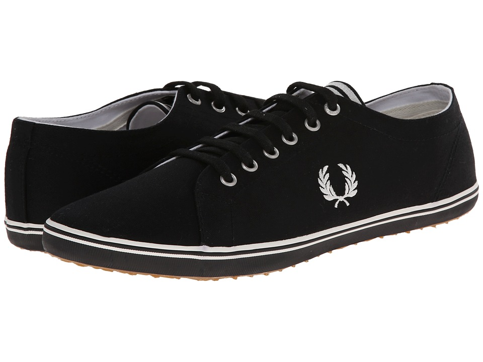 Fred Perry - Kingston Twill (Black/Porcelain 1) Men's Lace up casual Shoes