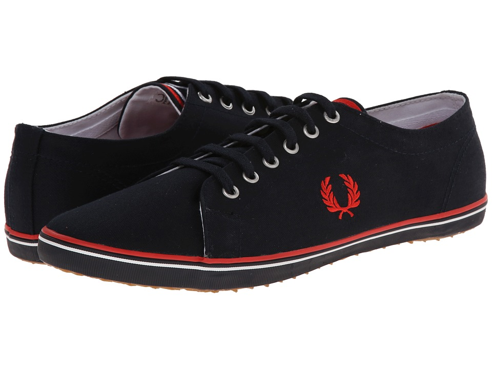 Fred Perry - Kingston Twill (Navy/England Red/White 1) Men's Lace up casual Shoes