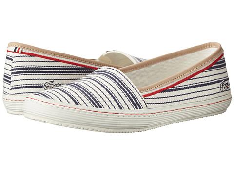 Lacoste - Orane 6 (Off White/Dark Blue) Women's Shoes