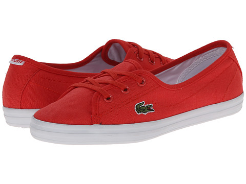 Lacoste - Ziane Chunky Res (Red/Red) Women's Lace up casual Shoes