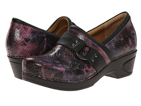 Nurse Mates - Dakota (Pink Snake) Women's Clog Shoes