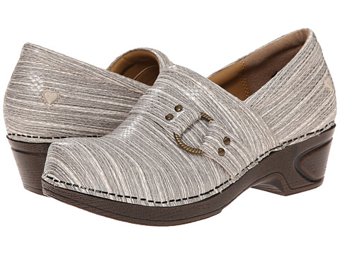 Nurse Mates - Dakota (Gray Linen) Women's Clog Shoes