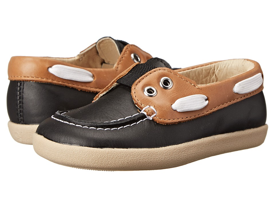 Old Soles - Boat Boy (Toddler/Little Kid) (Tan/Black) Boy's Shoes
