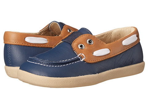 Old Soles - Boat Boy (Toddler/Little Kid) (Tan/Denim) Boy