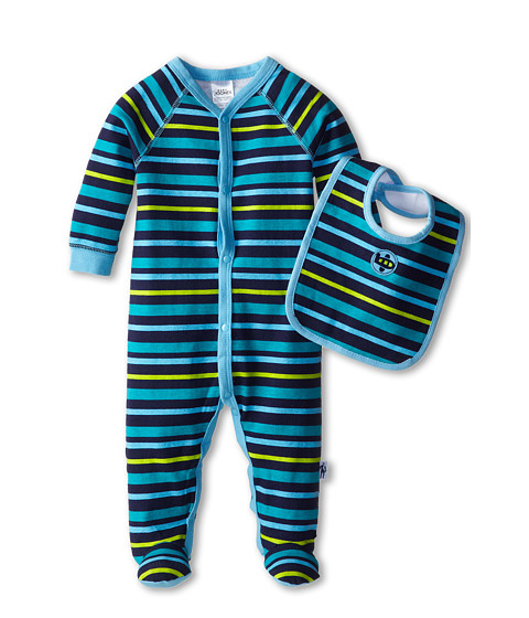Jockey Kids - Sleep 'n Play and Bib Set (Infant) (Navy Blue) Boy's Jumpsuit & Rompers One Piece