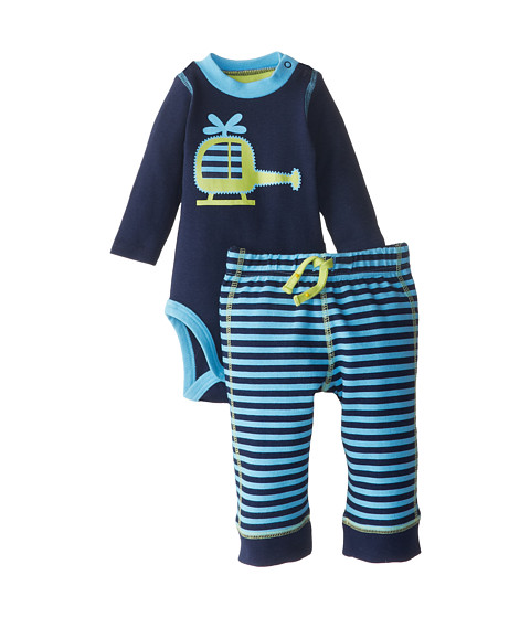 Jockey Kids - Two-Piece Bodysuit and Pant Set (Infant) (Blue) Boy's Jumpsuit & Rompers One Piece