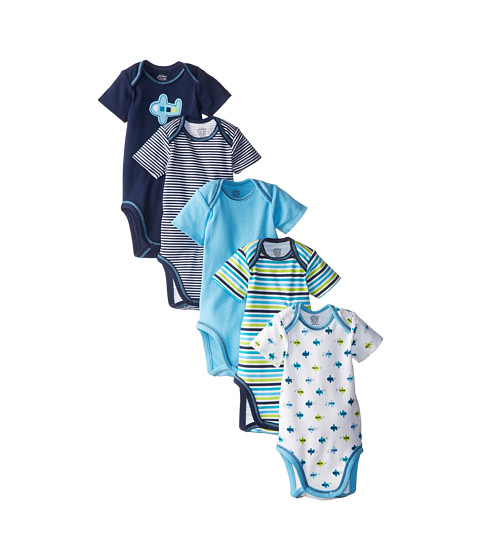 Jockey Kids - Bodysuits 5-Pack (Infant) (Blue) Boy's Jumpsuit & Rompers One Piece