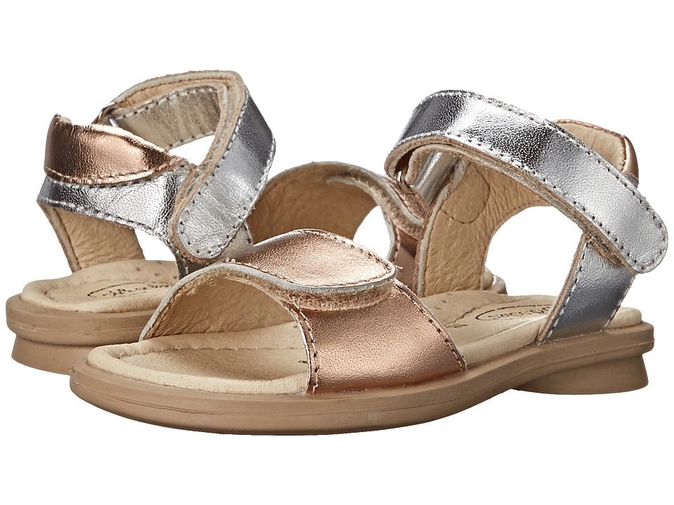 Old Soles - Caprese (Toddler/Little Kid) (Copper/Silver) Girl