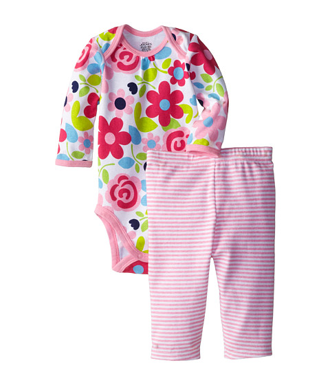 Jockey Kids - Two-Piece Bodysuit and Legging Set (Infant) (Pink) Girl's Jumpsuit & Rompers One Piece