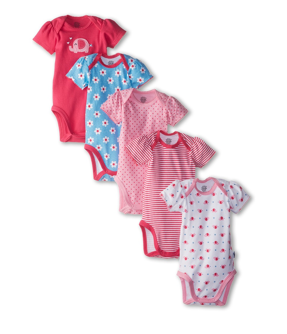 Jockey Kids - Bodysuits 5-Pack (Infant) (Pinks) Girl's Jumpsuit & Rompers One Piece