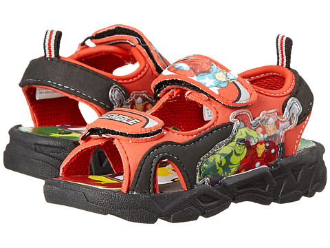 Favorite Characters - Avengers 1AVS601 Lighted Sandal (Toddler/Little Kid) (Black/Red) Boys Shoes