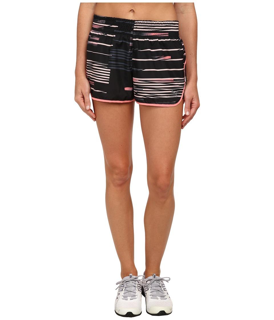 PUMA - Puma Axis Short (Black/Salmon Rose Glitch) Women's Shorts