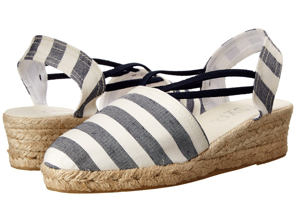 rsvp - Jelena (Navy Ocean/Navy Stripe) Women's Wedge Shoes
