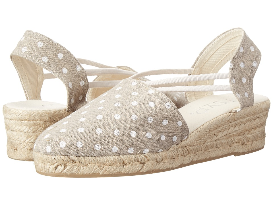 rsvp - Jelena (Natural Luna/White Dot) Women's Wedge Shoes