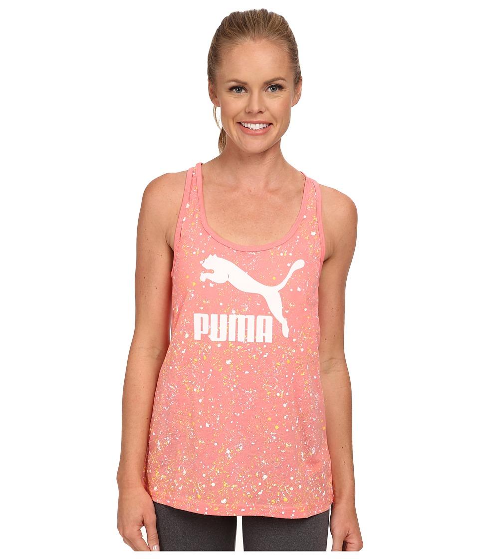 PUMA - Logo Tank (Salmon Rose) Women's Sleeveless