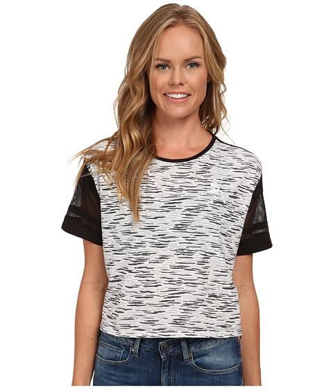 PUMA - Crop Tee (Black/Dark Shadow/Steel/Gray Violet) Women's T Shirt