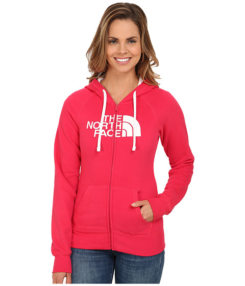 The North Face - Half Dome Full Zip Hoodie (Rose Red/TNF White) Women