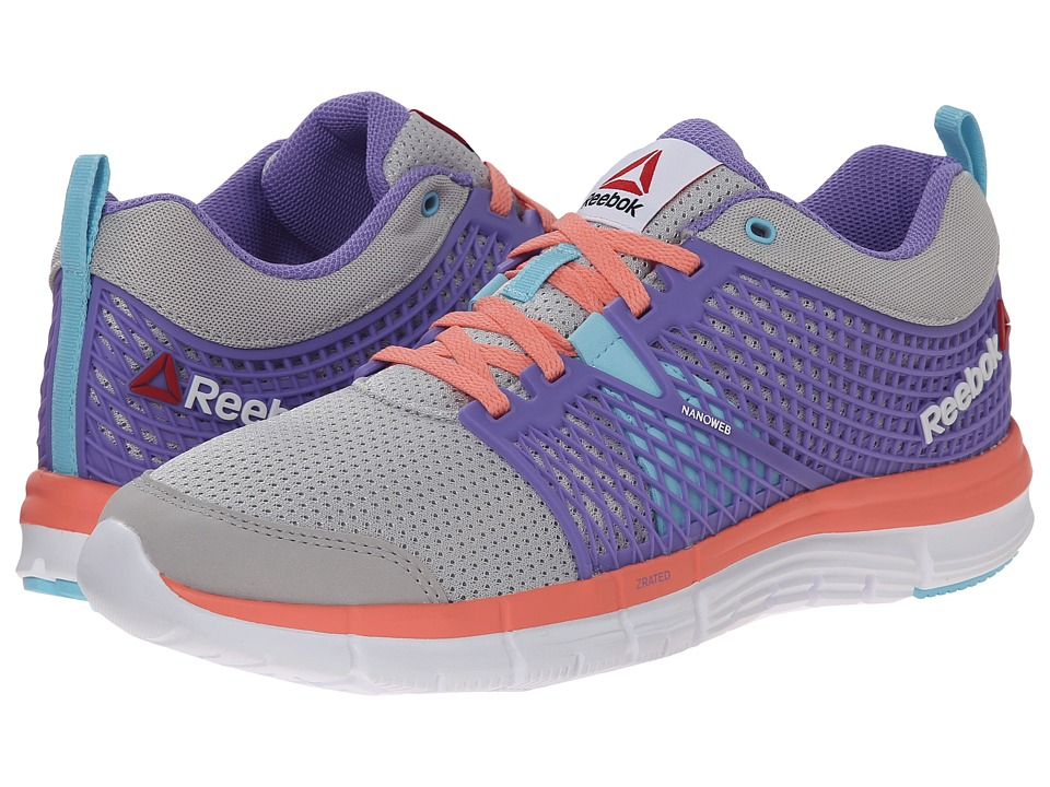 Reebok Kids - ZQuick Dash (Big Kid) (Steel/Lush Orchid/Blue Pool/Coral/White) Girls Shoes