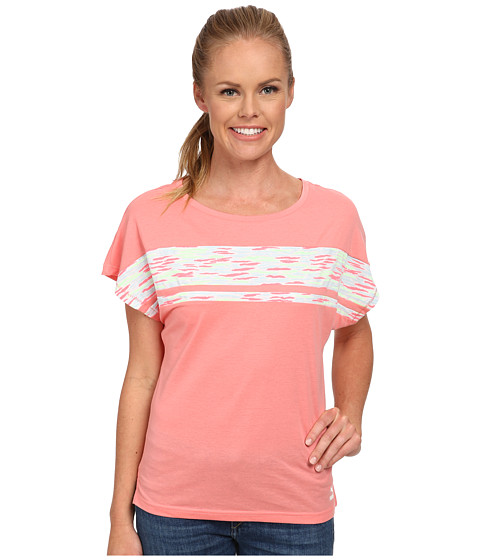 PUMA - Loose Fit Tee (Salmon Rose/Salmon Rose/Patina/OMP) Women's T Shirt