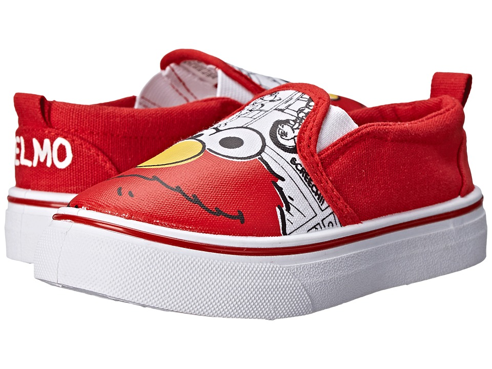 Favorite Characters - Sesame Street 1SES704 Canvas (Toddler) (Red/White) Boy's Shoes