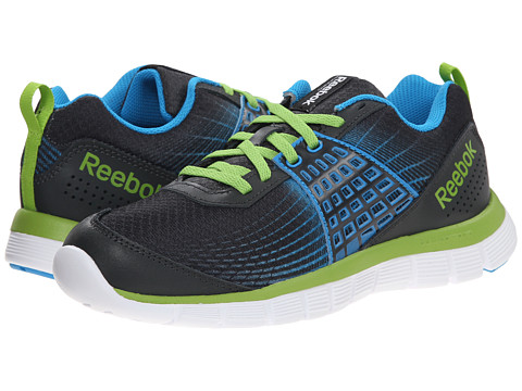 Reebok Kids - Z Dual Rush (Big Kid) (Gravel/Energy Blue/Ultra Lime/White) Boys Shoes