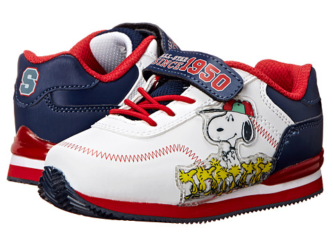 Favorite Characters - Peanuts 1PES400 Athletic Sneaker (Toddler) (White/Red/Navy) Boys Shoes