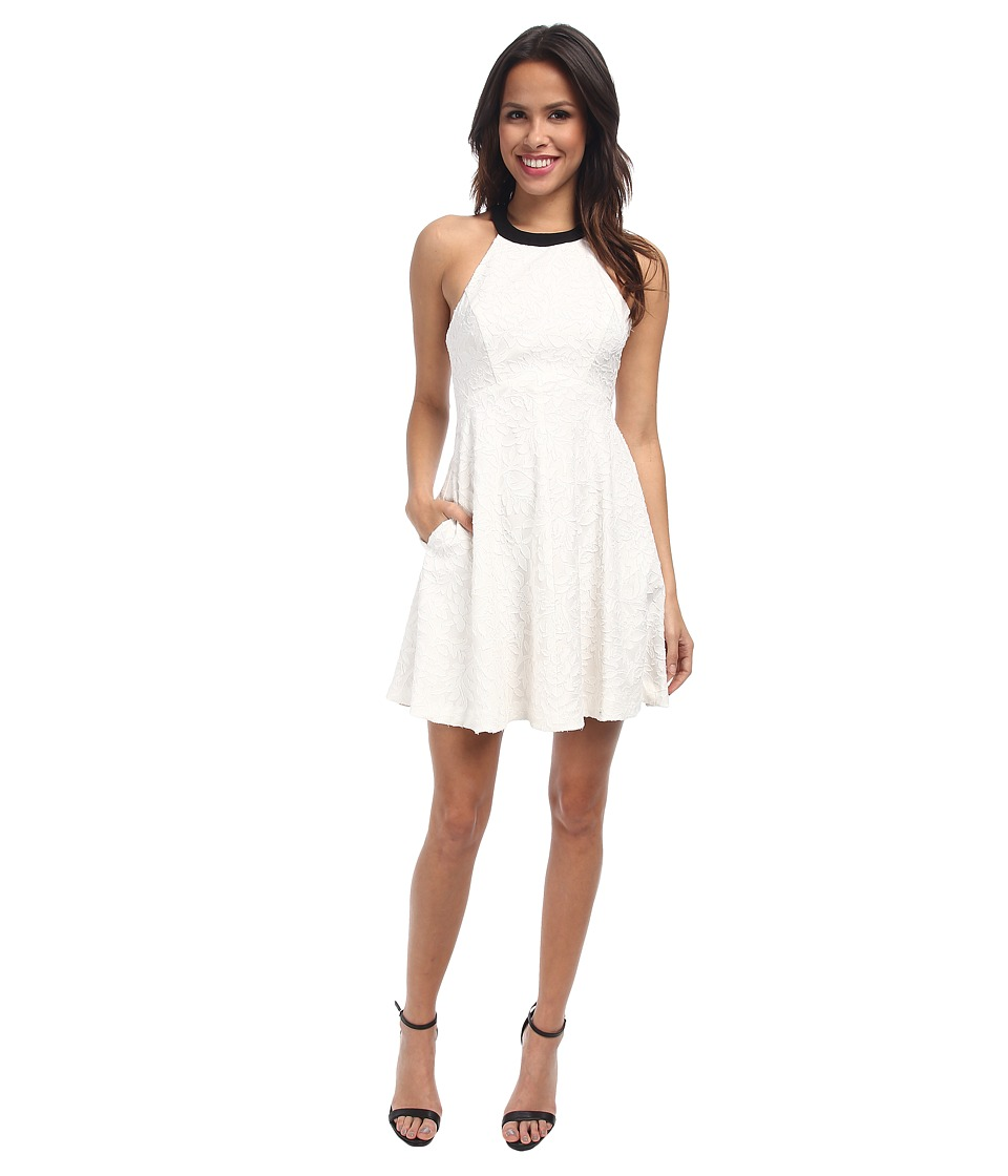 ABS Allen Schwartz - Halter Babydoll Dress (Ivory) Women's Dress