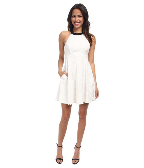 ABS Allen Schwartz - Halter Babydoll Dress (Ivory) Women's Dress