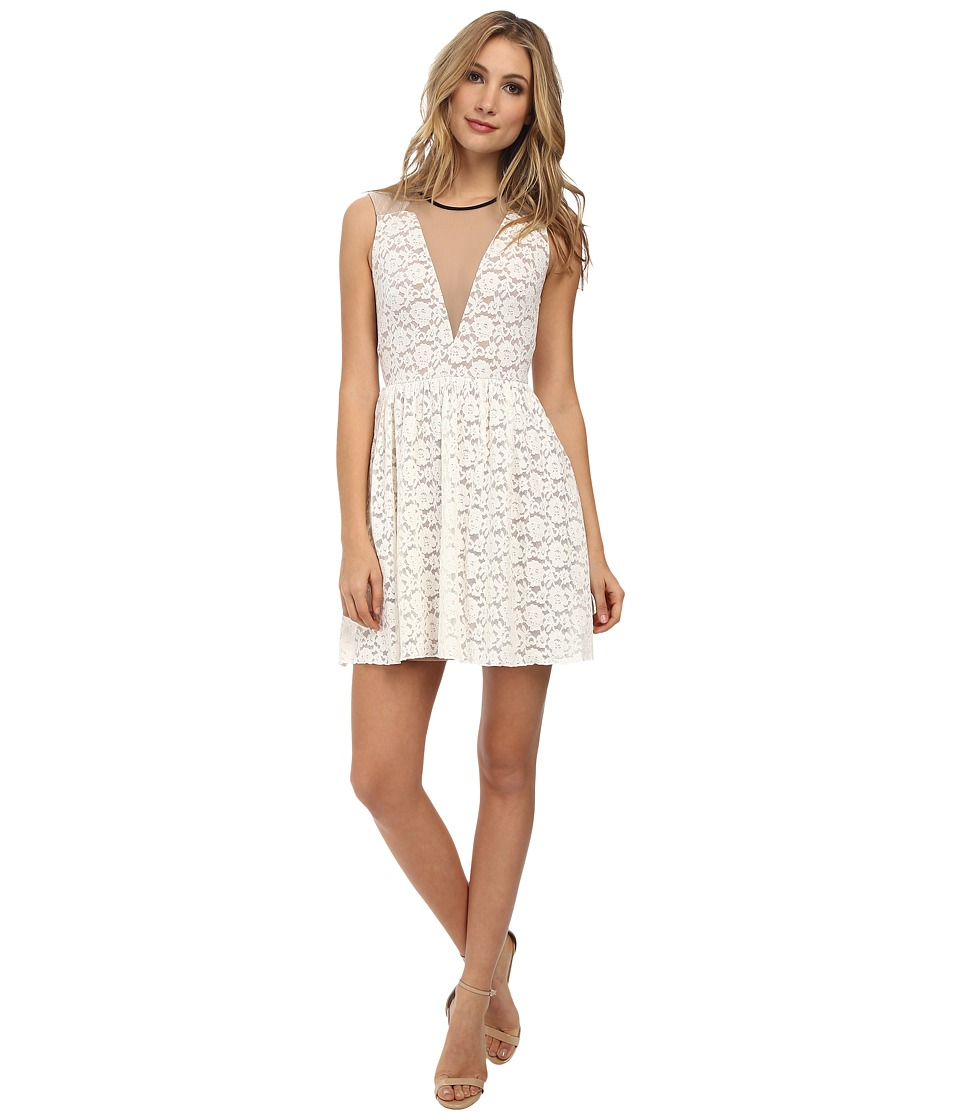 ABS Allen Schwartz - Multi Lace Cocktail Dress (Ivory) Women's Dress