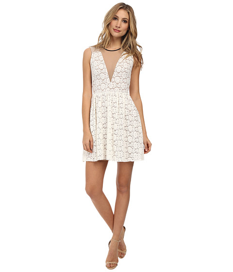 ABS Allen Schwartz - Multi Lace Cocktail Dress (Ivory) Women