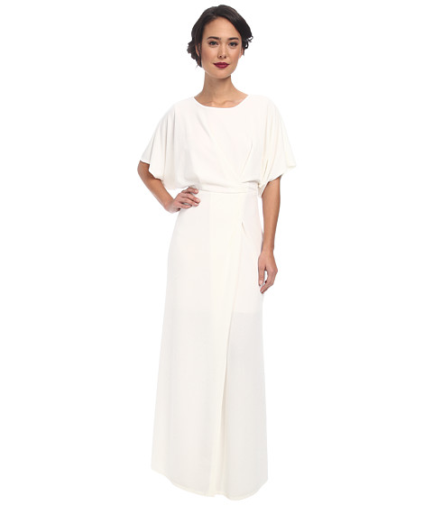 ABS Allen Schwartz - Vintage Inspired Gown with Open Back Detail (Off White) Women