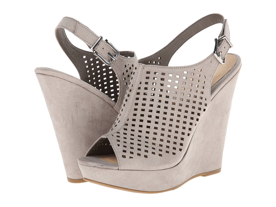 Chinese Laundry - Meet Up (Grey Micro Suede) Women's Wedge Shoes