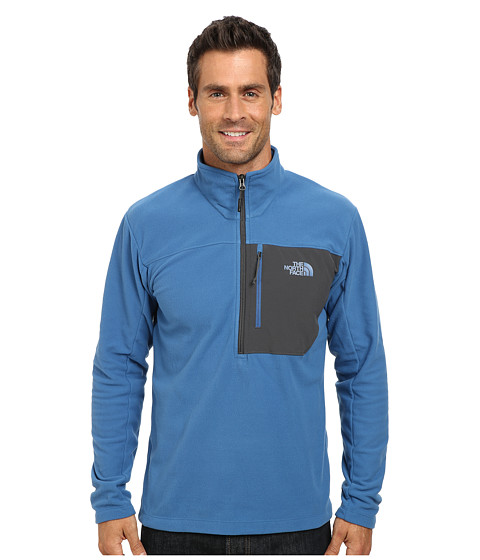 The North Face - Tech 100 1/2 Zip (Dish Blue/Asphalt Grey) Men