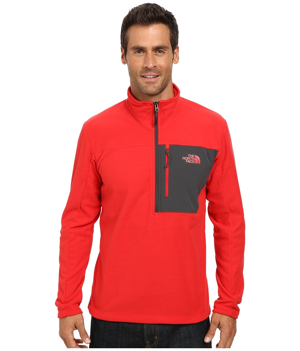 The North Face - Tech 100 1/2 Zip (TNF Red/Asphalt Grey) Men's Long Sleeve Pullover