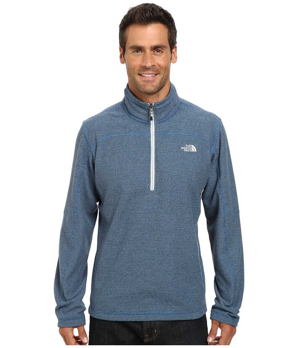The North Face - Texture Cap Rock 1/4 Zip (Dish Blue) Men's Sweatshirt