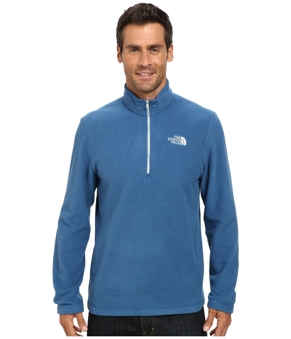 The North Face - TKA 100 Glacier 1/4 Zip (Dish Blue) Men's Sweatshirt