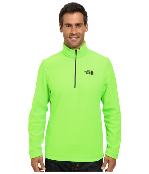 The North Face - TKA 100 Glacier 1/4 Zip (Power Green) Men