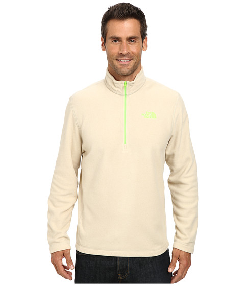 The North Face - TKA 100 Glacier 1/4 Zip (Oatmeal Heather) Men's Long Sleeve Pullover