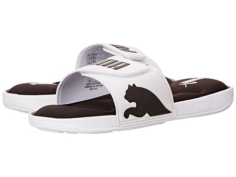 PUMA - Rio Lux M (White/Black) Men's Slide Shoes