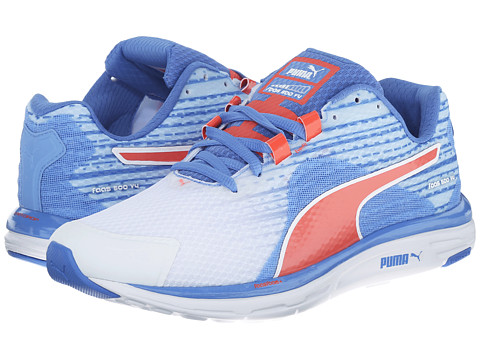 PUMA - Faas 500 v4 (White/Ultramarine/Clematis Blue/Hot Coral) Women
