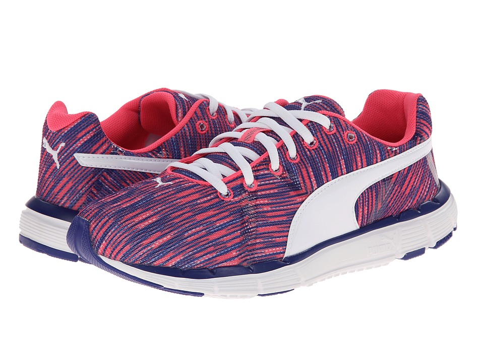 PUMA - Bravery (Fluo Pink/Clematis Blue/White) Women's Shoes
