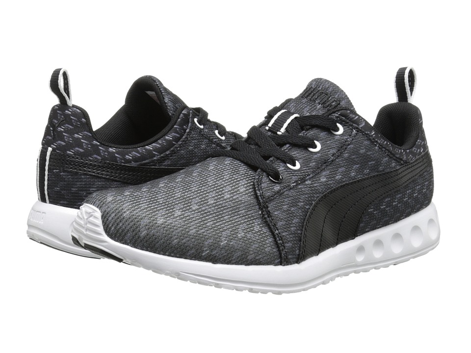 PUMA - Carson Runner Glitch (Black/White) Women's Shoes