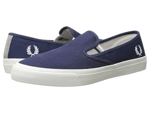 Fred Perry - Turner Slip-On Canvas (Carbon Blue) Men's Flat Shoes