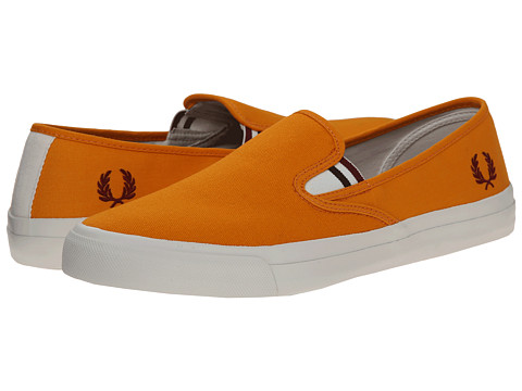 Fred Perry - Turner Slip-On Canvas (Saffron) Men's Flat Shoes