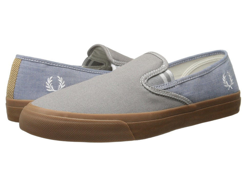 Fred Perry - Turner Slip-On Canvas/Shirting (Cloudburst) Men's Flat Shoes