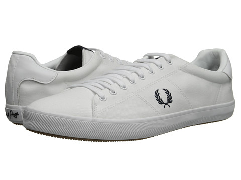 Fred Perry - Howells Twill (White) Men's Lace up casual Shoes