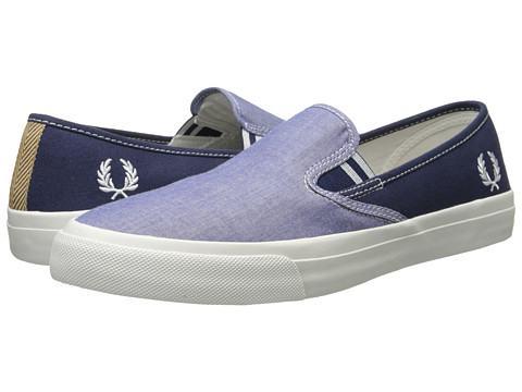 Fred Perry - Turner Slip-On Shirting/Canvas (Rich Blue) Men's Slip on Shoes